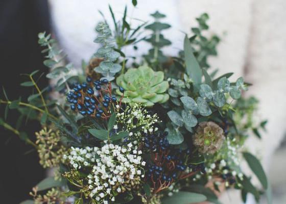 bouquet_matrimonio_invernale_verde