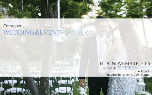 Corso per Wedding Planner – 14/19 Novembre 2016