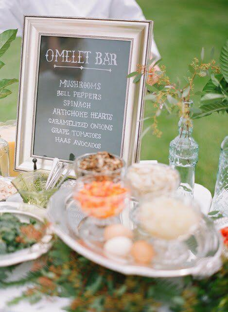 wedding after party omelet corner